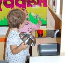 Angolo del gioco simbolico asilo nido bilingue happy - Il gioco della cucina ...